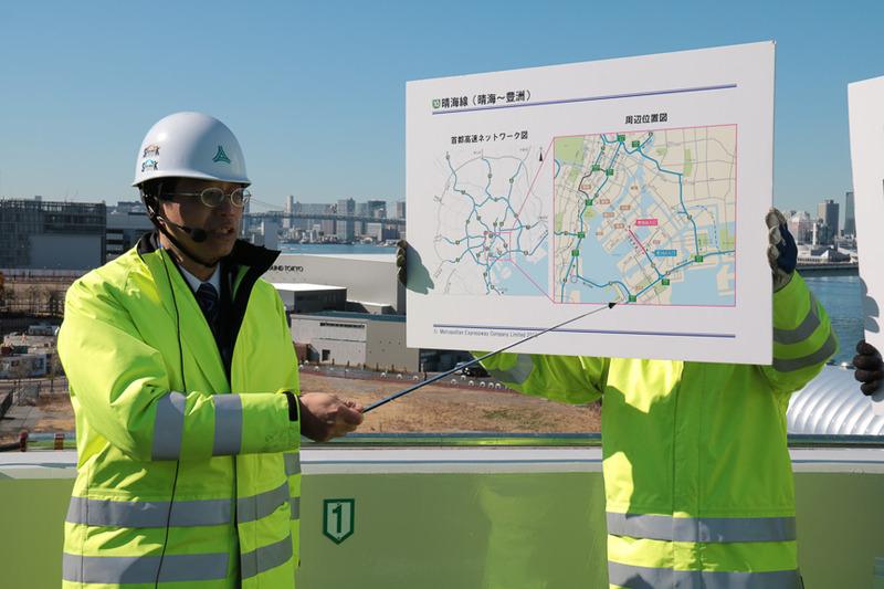 晴海線について解説を行なった、首都高速道路株式会社 東京西局プロジェクト本部長 山口修一氏