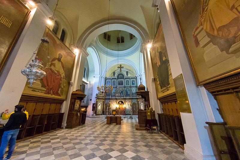 「聖ニコラス教会(Church of St. Nicholas)」。20世紀に再建された教会