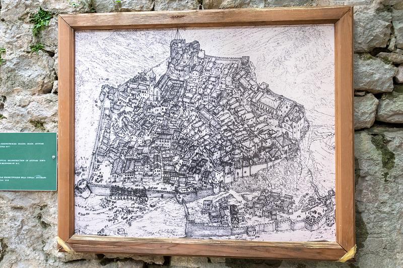要塞跡のイメージ図