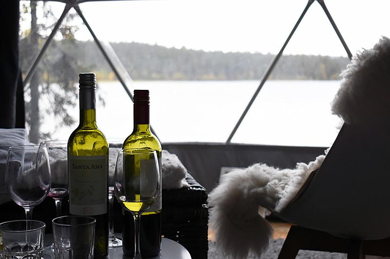 翌朝のワンショット。前の晩みんなで飲んだワインボトルがいい感じでお気に入りの1枚