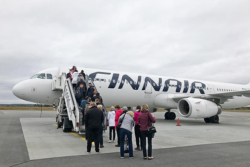 フィンエアーのAY557便で、まずはヘルシンキのヴァンター国際空港へ