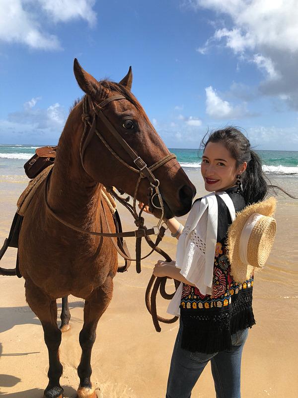 あっという間の約2時間、たっぷり乗馬と景色を楽しめ大満足! そしてマングース君ありがとう