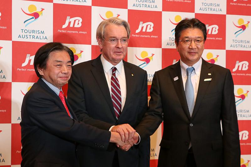 オーストラリア政府観光局とJTBは共同マーケティングに関する協力覚書を締結した