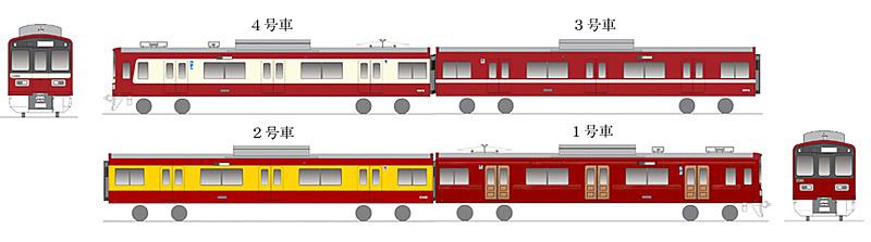 特別ラッピング列車「京急120年の歩み号」