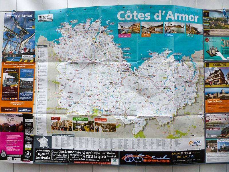 コート=ダルモール県の地図