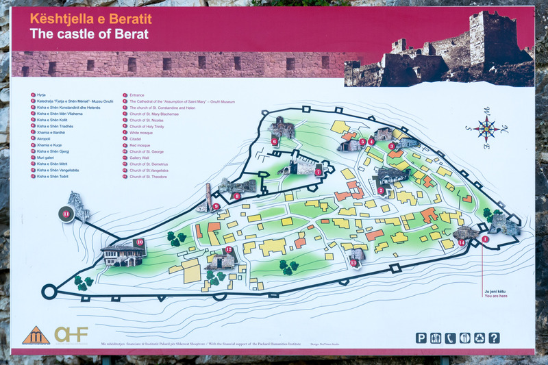 ベラット城のマップ