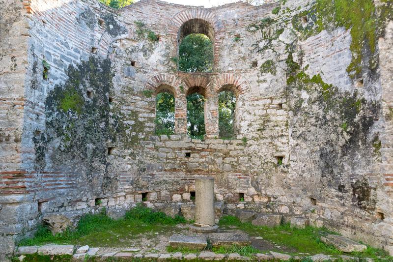 ブトリント最後期となる16世紀の正教会聖堂跡