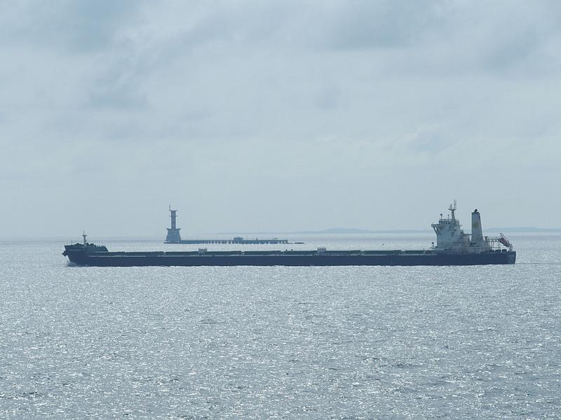 世界有数の航行量を誇るシンガポール海峡だけに多様な船舶が航行している
