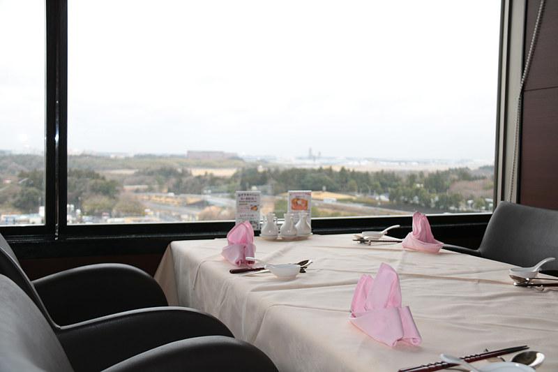 11階の中華料理「蓬莱」の店内