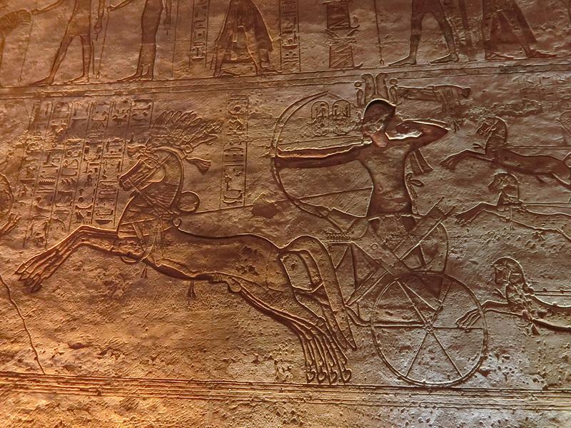 ラムセス2世のカデシュの戦いの様子