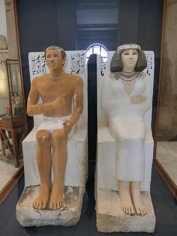 ラヘテプと妻ネフェルトの像
