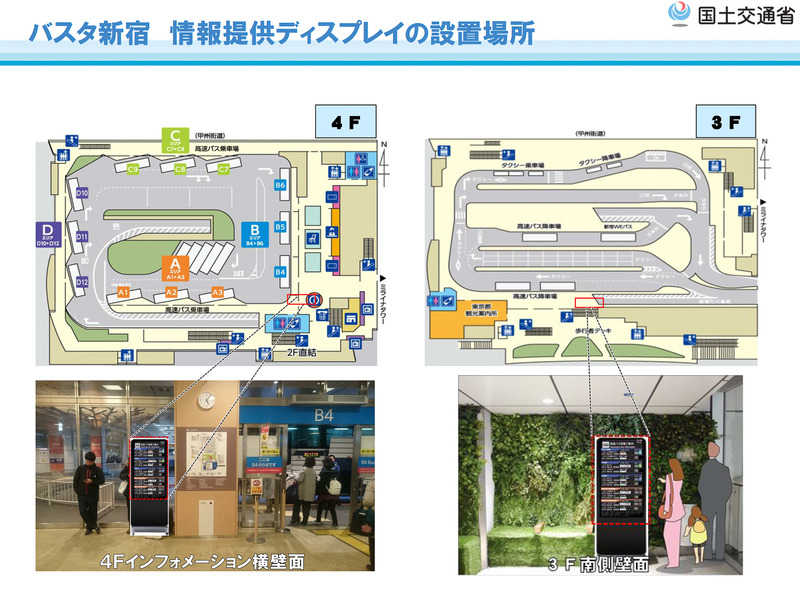 バスタ新宿の大型ディスプレイ設置場所