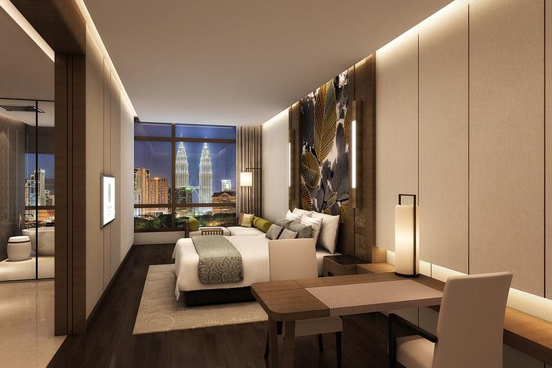 客室イメージ。ペトロナスツインタワーが望める