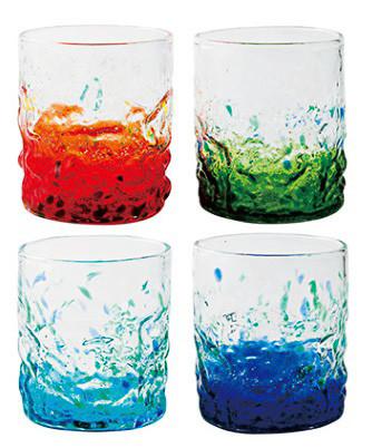 琉球ガラス村 流星ロックグラス4個セット