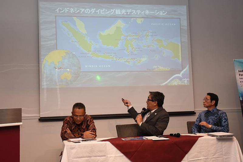 ダイビングスポットを紹介する在日インドネシア共和国大使館 公使参事官 エコ・ジュノル氏