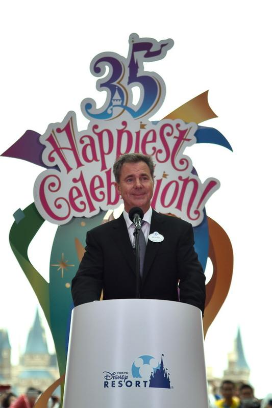 ウォルト・ディズニー・パーク&リゾート プレジデント/マネージング・ディレクター・アジア・マイケル・A・コールグレイザー氏が祝辞を述べた