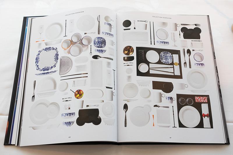 テーブルウェアはすべてマルセル・ワンダースのデザイン