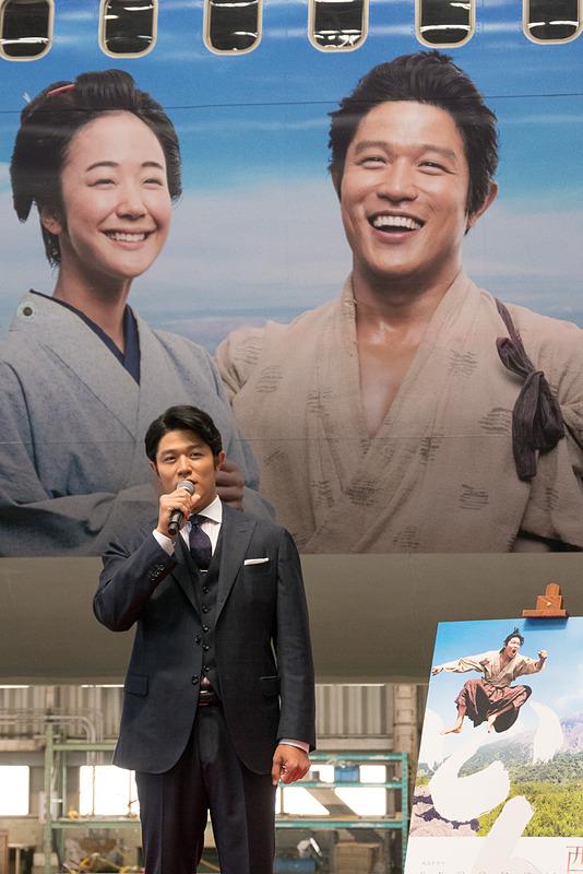 大河ドラマ「西郷どん」で主役の西郷隆盛を演じる鈴木亮平さん