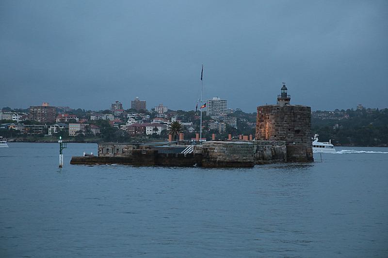 要塞、そして監獄としても使用されたフォート・デニスン(Fort Denison)。この海にはサメがいるので、脱獄を企てる囚人はいなかったとか