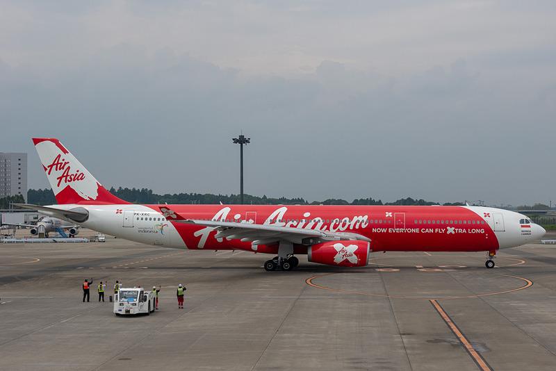 インドネシア・エアアジアXが成田~ジャカルタ線に就航。5月2日の成田発初便は搭乗率85%を超える盛況となった