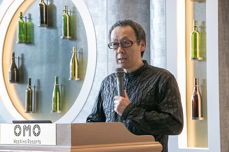 星野リゾート OMO7 旭川のリニューアルオープンセレモニーで登壇した、星野リゾート 代表の星野佳路(よしはる)氏