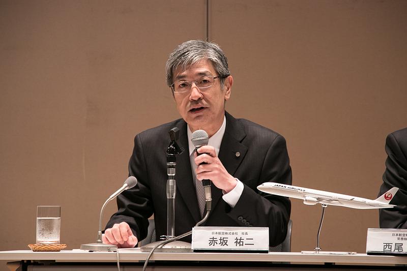 日本航空株式会社 社長執行役員 赤坂祐二氏。2018年6月の定時株主総会以降は、代表取締役社長となる