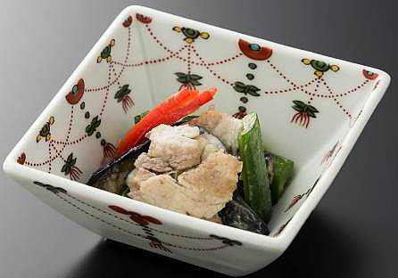 金賀佐賀豚と茄子 胡瓜の葱塩浸し