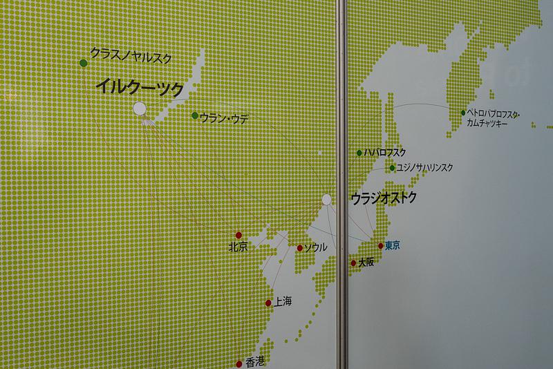 S7航空の日本路線を中心としたネットワーク