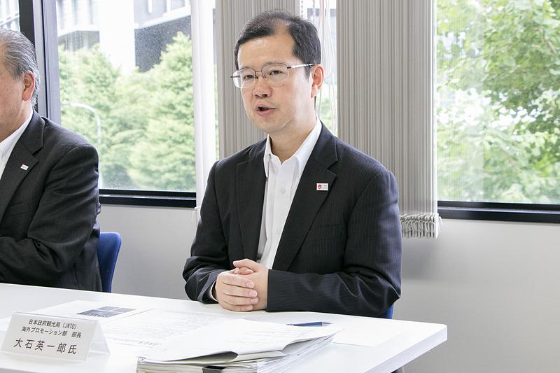 日本政府観光局 海外プロモーション部 部長 大石英一郎氏