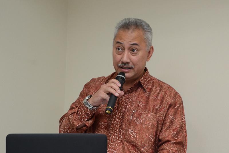 ガルーダ・インドネシア航空は6月6日、同社の最新状況などを説明する会見を行なった。写真はガルーダ・インドネシア航空 日本・韓国・アメリカ地区 総代表 フィクダネル・タウフィック氏