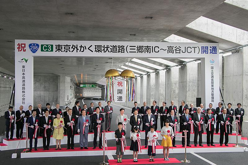 6月2日に開通した外環道 三郷南IC~高谷JCT