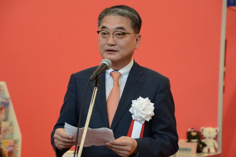 あいさつをした韓国文化体育観光部 次官の羅棕珉氏