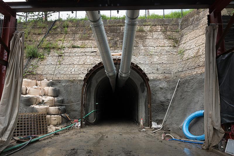 立野ダムの基礎工事に使われるリムトンネル