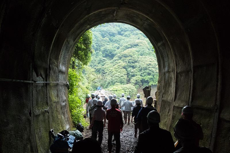 犀角山トンネルを抜けた先にある第一白川橋梁