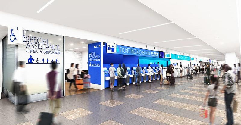 ANAが6月28日に福岡空港のチェックインカウンターをリニューアル