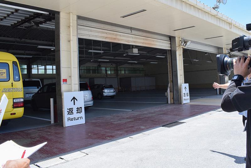 返却スペースは同時に18台が駐車可能