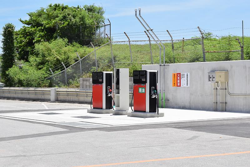 敷地内に給油機があり、返却時の給油をここで行なえる