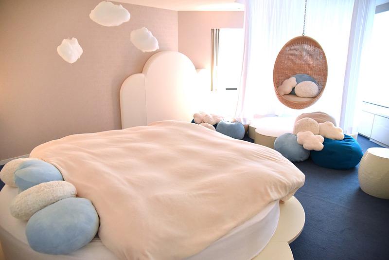 ベッドルームは雲の上でスヤスヤ眠るイメージなふかふか&ふわふわデザイン