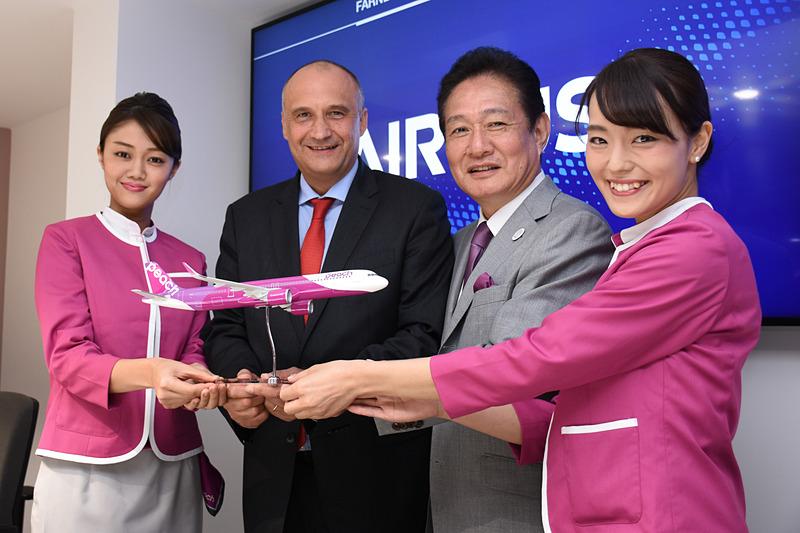 ピーチはエアバス A321LR型機を2機導入することを発表した