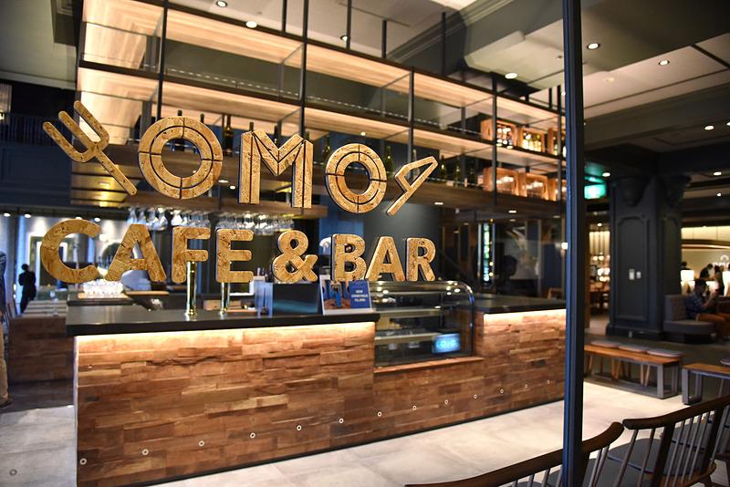 ロビーにつながるエリアに立地する「OMOカフェ&バル」