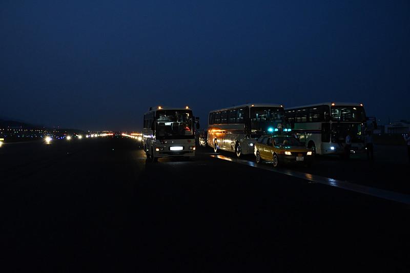 バスが停車した箇所から500mほど歩いていくプラン