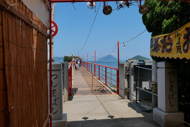 つしま橋は、このように津島まで一直線に伸びている