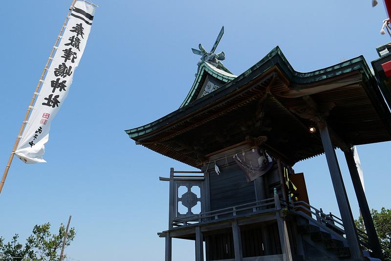 拝殿の奥にあるこちらが本殿。素戔嗚尊(すさのおのみこと)が祀られている