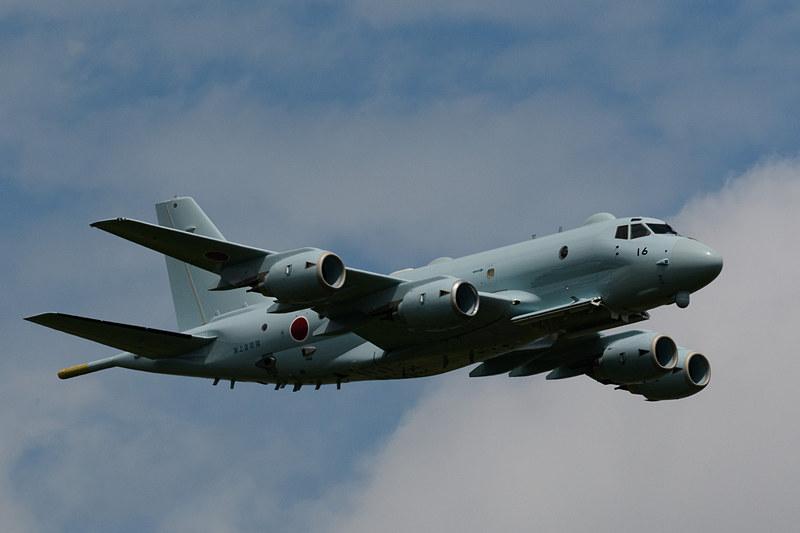 同じく川崎重工業製の国産4発ジェット哨戒機「P-1」