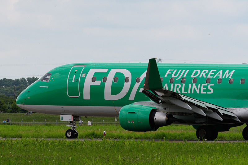静岡空港からFDA 171便として到着した機体が、FDA 224便として松本空港へ飛び立っていった