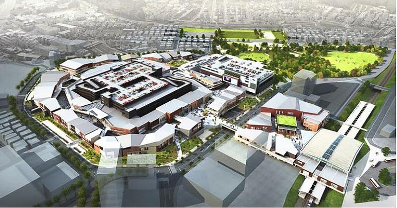 「南町田グランベリーパーク」の俯瞰イメージ
