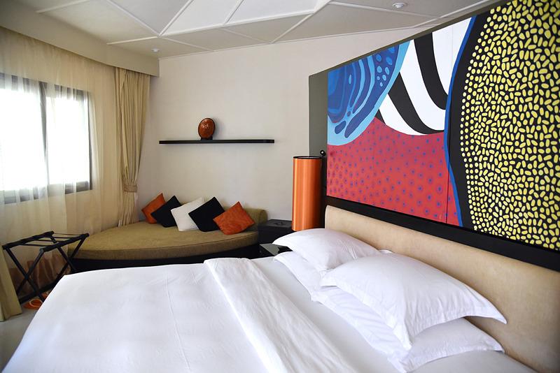 ベッドルームの構造はほかのヴィラと同一。「VELAVARU VILLA」(323m<sup>2</sup>)