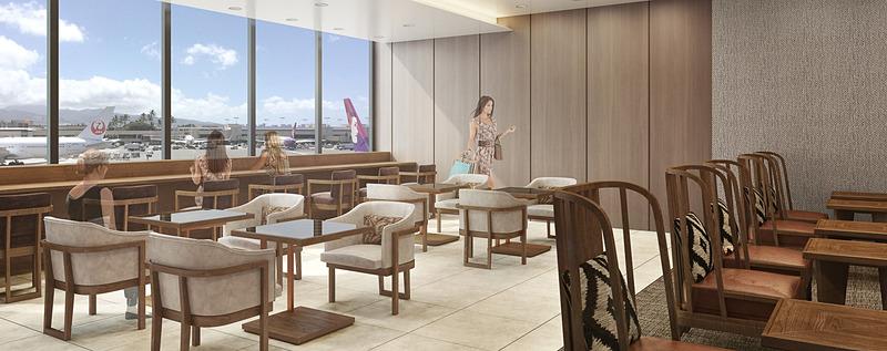 JALはホノルル空港(ダニエル・K・イノウエ国際空港)に新しいサクララウンジ「サクララウンジ・ハレ」を8月18日にオープンする