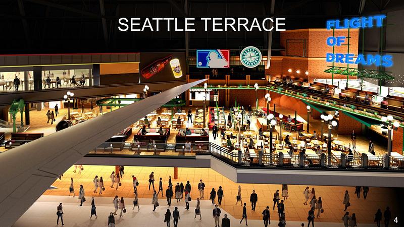 飲食店11店舗、物販5店舗が入るシアトルテラス