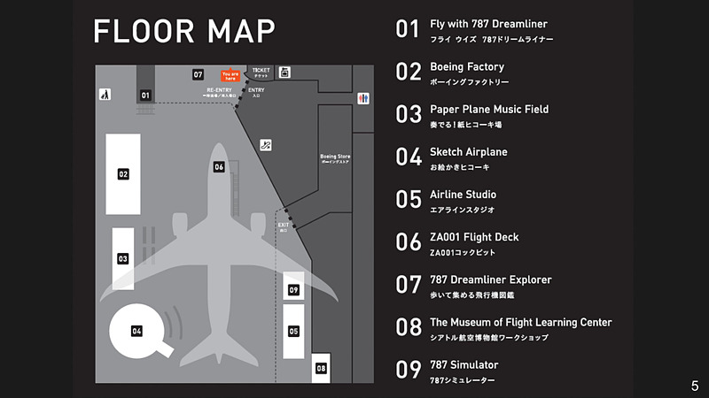 フライト・オブ・ドリームズのコンテンツエリアマップ
